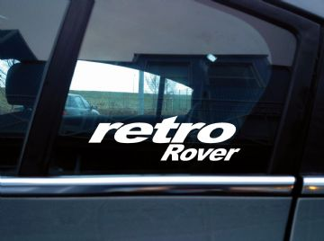 Retro Rover sticker for classic Rover metro / Maestro Turbo /  200 / 25 / 45 / 75
